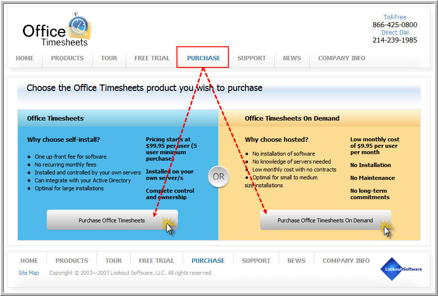 3 choose the desired office timesheets product to purchase